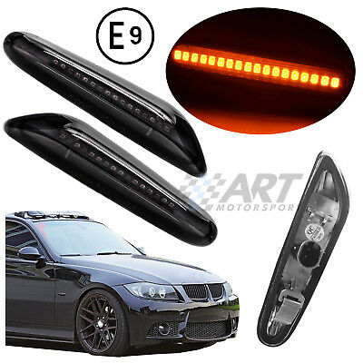 Intermitentes Bmw E46 Led Oscuros 4 Puertas 01-05 Indicatori Clignotants Markers