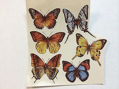 Ceramic decals six intricate butterfly designs lot of 36 decals