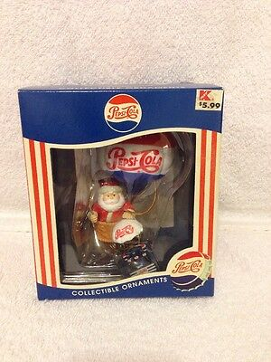 1997 Matrix Pepsi-Cola Collectible Ornament Santa On Air Balloon