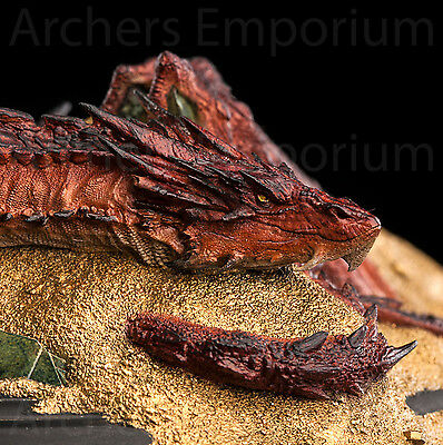Smaug - King Under the Mountain Statue. Red Dragon. Hobbit. Weta Collectables.