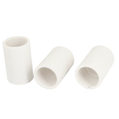 3PCS Replacement 20mm Inner Diameter PVC Straight Pipe Connectors White