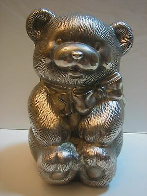 Silver Plate Bank Baby Bear Vintage
