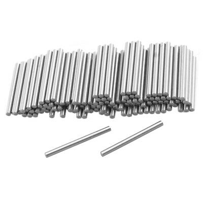 100 Pcs Metal 1.25mm x 15.8mm Dowel Pins Fasten Elements