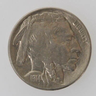 1914 United States Buffalo Nickel Five Cent .05c Extra Fine XF Condition Coin
