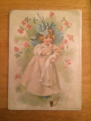 VINTAGE ANTIQUE GREATING CARD LIONS COFFEE WOOLSON SPICE CO TOLEDO OHIO 1880's