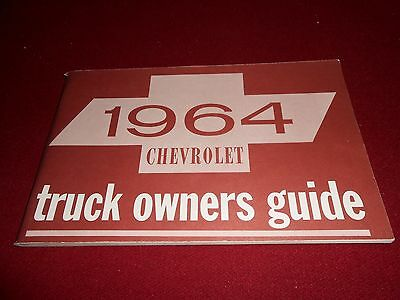 1964 CHEVROLET TRUCK OWNER GUIDE, OPERATOR'S MANUAL, CHEVY