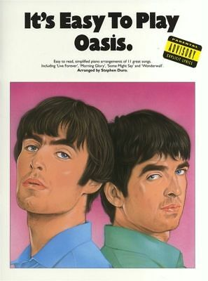 It's Easy To Play - Oasis Piano Book *NEW* Sheet Music, 11 Great Songs