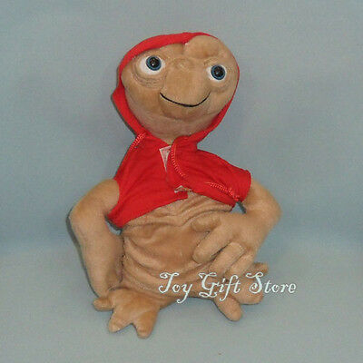 """1PCS ET Extra Terrestrial Plush Doll Figure with RED Coat 10"""""""