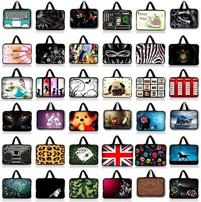 "Soft Neoprene Sleeve Bag Case Pouch Handbag For 7""-17"" Laptop Notebook Tablet PC"
