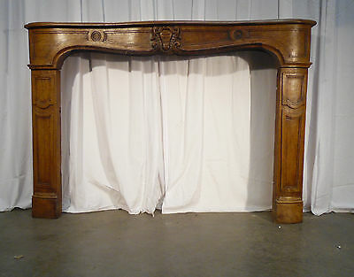 Cheminee Louis Xiv Chene Massif Bois / Fireplace Wood Solid Oak