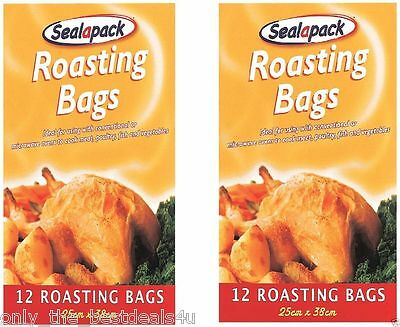 24 X Roasting Bags Mircowave Oven Cooking Turkey Meat Fish Poultry Chicken