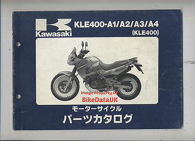 Kawasaki KLE 400 A (1991-1994) Fully Illustrated Parts List/Catalogue JAP TWIN