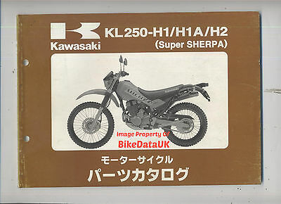 Kawasaki KL 250 H Sherpa (1997-1998) Fully Illustrated Parts List/Catalogue JAP
