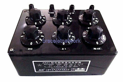 Precision Variable Decade Resistor Resistance Box 0.1R to 99.9999kR