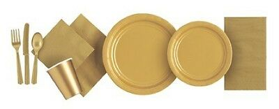 GOLD TABLEWARE -  Plates/Cups/Napkins/Tablecovers/Bags/Balloons
