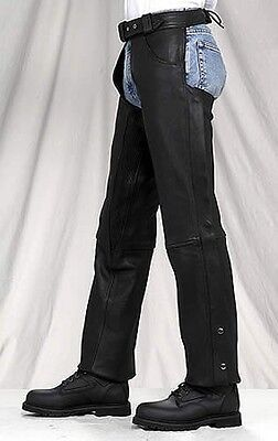 PREMIUM COWHIDE Lined NAKED LEATHER MOTORCYCLE Biker CHAPS Retail $169 CLOSEOUT