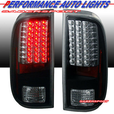 Set of Pair Black LED Taillights for 2008-2016 Ford F-250/350/450/550 SuperDuty