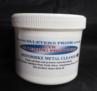 Motorbike Chrome Cleaner Polishes All Metal Components On A Motorbike 500 Grams