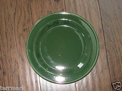 Henn Pottery  Emerald Green Jewelware 10 Inch Dinner Plate Christmas Holidays