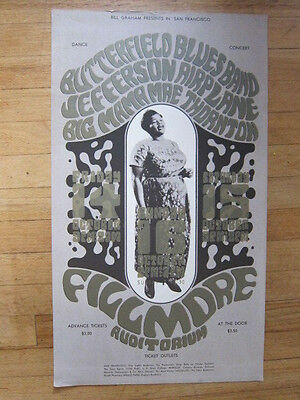 BUTTERFIELD BLUES BAND Jefferson Airplane Big Mama Thornton Fillmore poster 1st