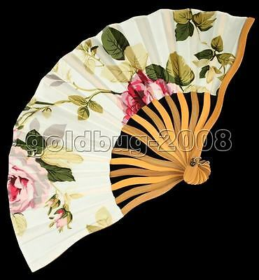 New Chinese Japanese Folding Hand Silk Danceing Wedding Bamboo Fan