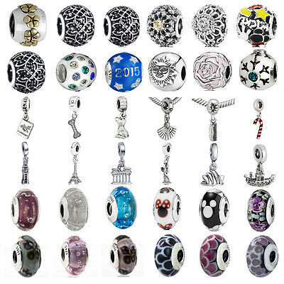 European 925 pendant sterling charms silver bead For PAN Bracelet Bangle chain
