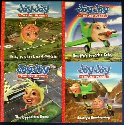 4 JAY THE JET PLANE Story Picture PBS lot Christian Children Airplane Books NEW