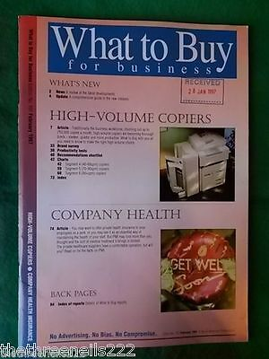 What To Buy For Business #191 - Company Health - Feb 1997