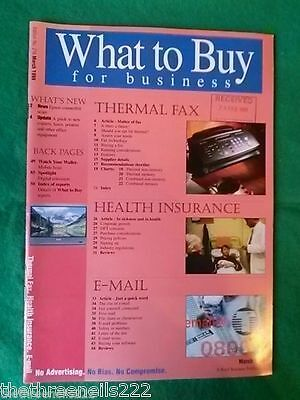 What To Buy For Business #216 - Thermal Fax - March 1999