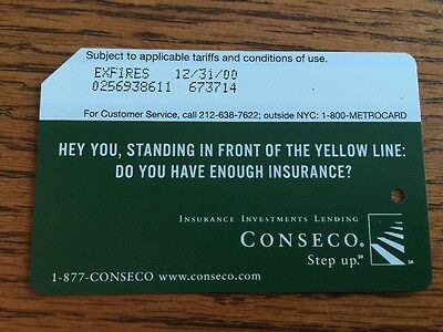 """Lot of 5 Vintage Expired NYC Subway METROCARD CONSECO """"Hey You"""""""