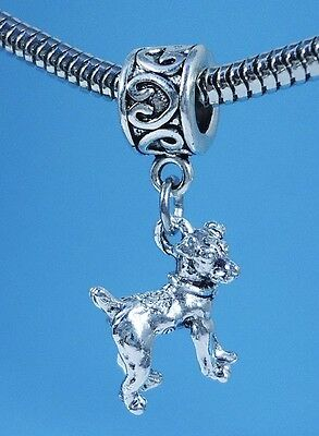Jack Russell Terrier 3D Dangle Slider Charm fits European Bracelets or Necklace