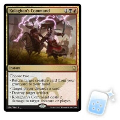 KOLAGHAN'S COMMAND Dragons Of Tarkir DTK Magic MTG MINT CARD