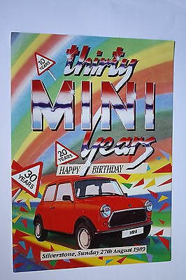Mini Thirty Years Flyer Poster Silverstone 27Th August 1989