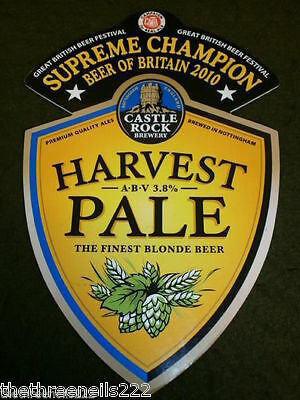 Beer Pump Clip - Castle Rock Harvest Pale