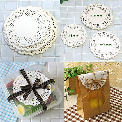 CRAFTS Round Paper Lace Doilies for Card making & Scrapbooking / 200pcs