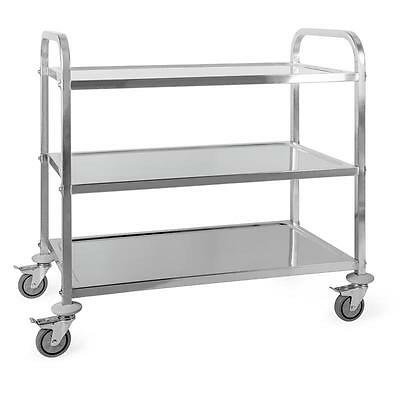 New Catering Room Service Trolley 3 Shelves Stainless Steel Kitchens Cafeterias