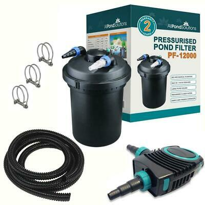 Pressurised Complete Pond Filter / Pump / UV Steriliser - All in One + Fittings