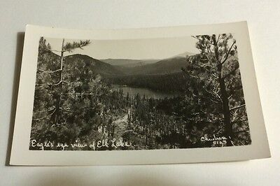 RPPC Oregon OR Eagle View Elk Lake Fishing Bend Circa 1940 Ekc