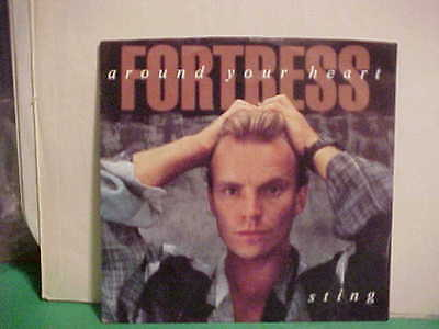 """A&M RECORDS 7"""" 45 RPM PICTURE SLEEVE ONLY STING FORTRESS AROUND YOUR HEART"""