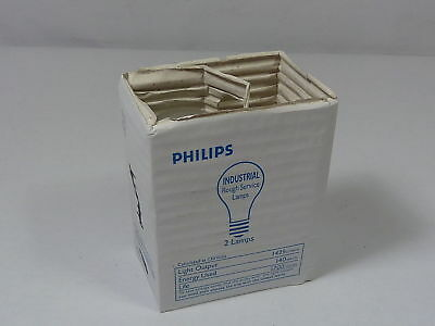 Philips 150A/35/RS/BR Frosted Bulb 150W A53 2 pack ! NEW !