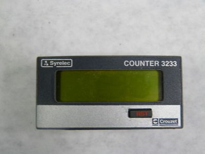 Crouzet / Syrelec 3233 87614040 LCD Totalizer Rate Meter 8-Digit 3-30V ! WOW !