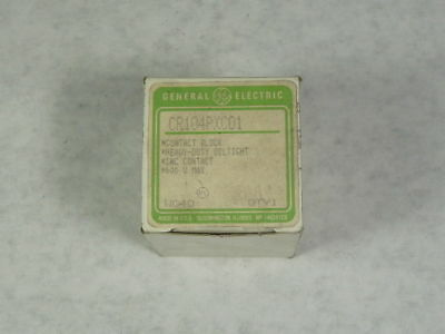 General Electric CR104PXC01 Contact Block ! WOW !