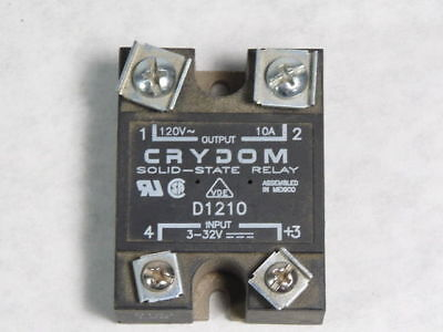 Crydom D1210 Solid State Panel Mount Relay 10A 24-140VAC 3-32VDC ! WOW !