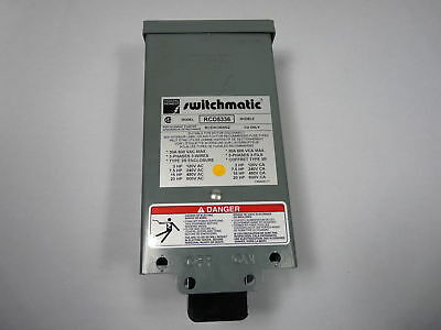 Federal Pioneer RCD5336 Switchmatic Starter Switch 30A 600V 3 Phase  WOW