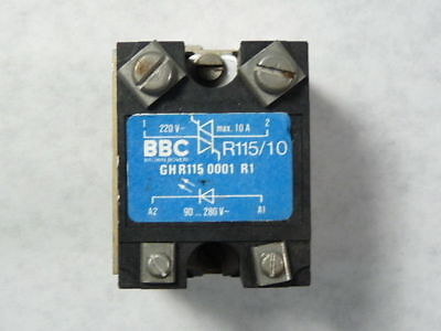 BBC R115/10 GHR115-0001-R1 Solid State Panel Mount Relay 10A 220V 90-280V ! WOW!