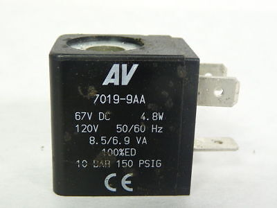 Automatic Valves 7019-9AA Solenoid Coil 60VDC 150PSI 110/120V 50/60Hz ! WOW !