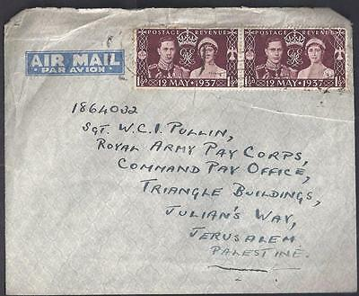 Gb, Kgv1, Cover To Palistine, Army Pay Corps. Unusual. No Back Stamp