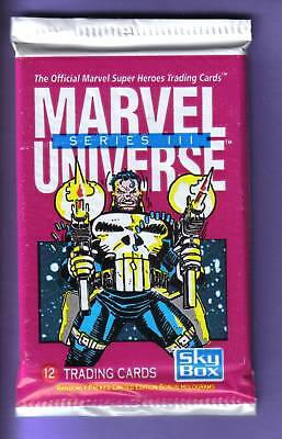1992 Skybox MARVEL UNIVERSE SERIES 3 Pack Fresh from Box !