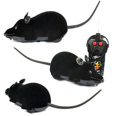 Scary RC Remote Controller Simulation Plush Mouse Mice Kid Toy Gift BK GFY