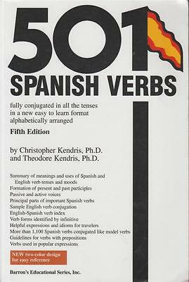 501 Spanish Verbs Fully Conjugated All Tenses Barrons 5th Ed 2003 Grammar Langua
